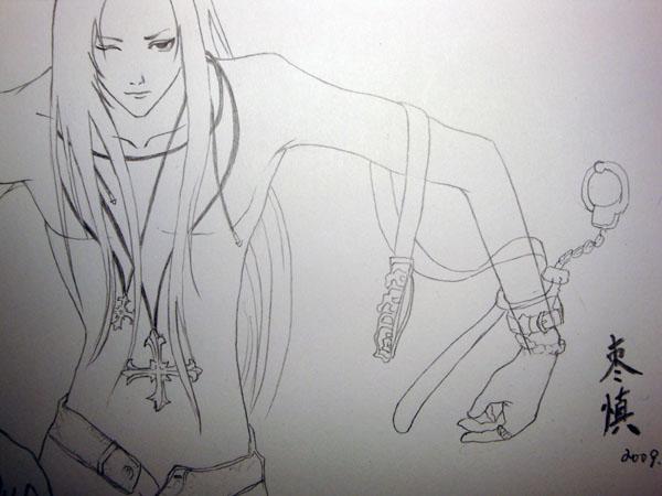 铅笔手绘美男眼睛