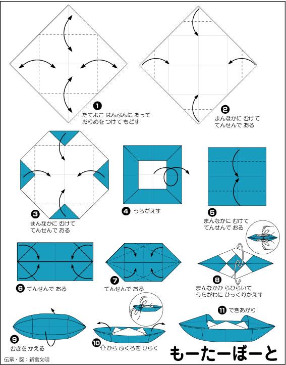 小船折法图解乌篷