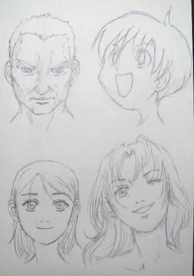 超级漫画素描技法-五官的基础1