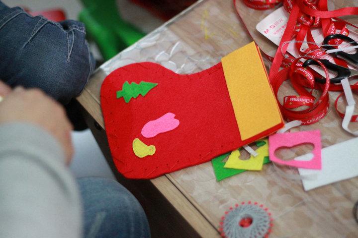 【jerry妈妈故事会】圣诞袜制作文字+照片回顾-12