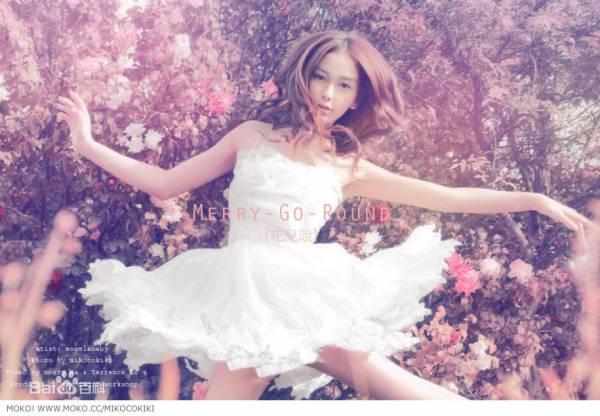 """唯美小清新图片:angelababy""""花儿说""""唯美写真"""